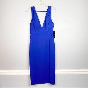 Lulu's Dresses - Lulus Idina Backless Bodycon Midi Dress Royal Blue